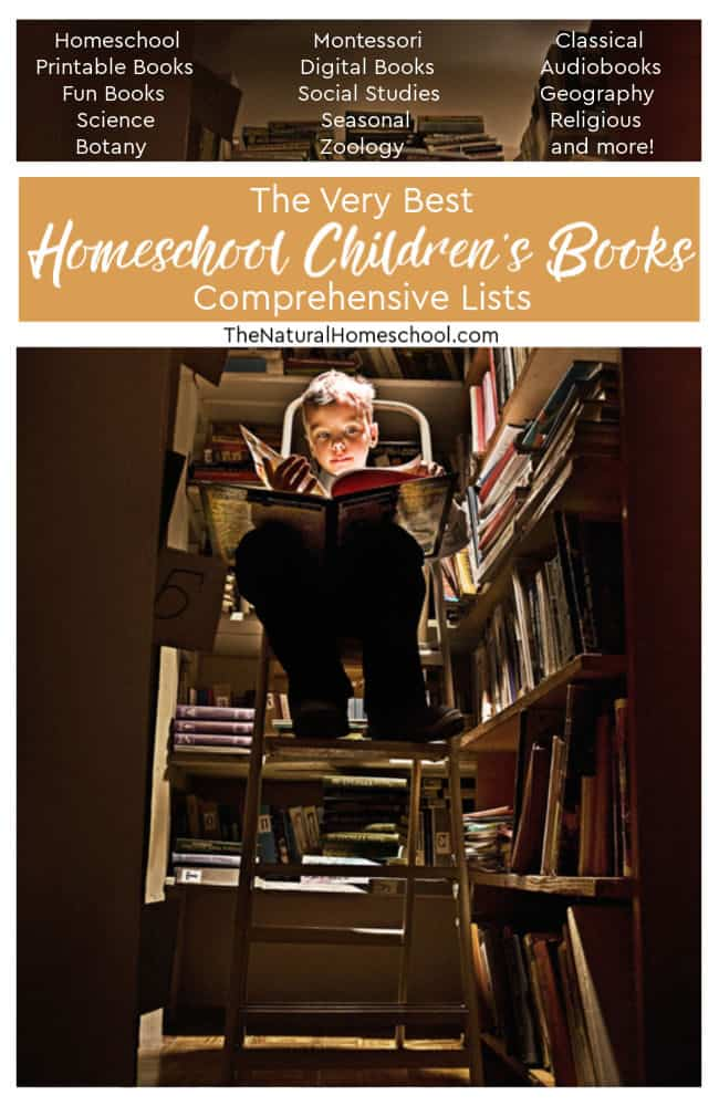 Come and take a look at the very best homeschool children's books comprehensive lists! Here, you will find lists of lists of books on dozens of topics!