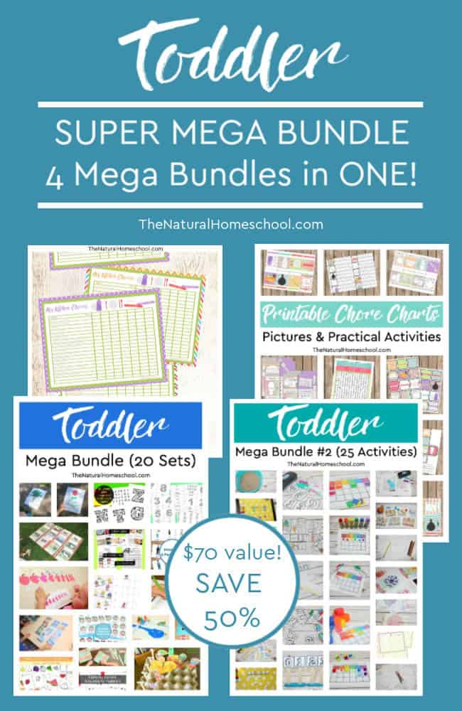 Teaching toddlers can be hard, but it doesn't have to. This Toddler Printable SUPER MEGA bundle set includes 60 activities (225 pages total).