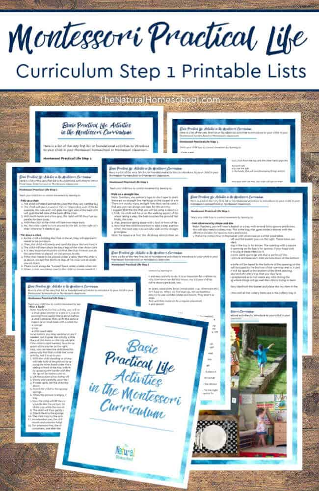 Come and see the basic Practical Life activities in the Montessori curriculum printable list that we have put together for you!