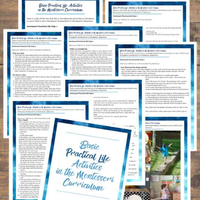 Be prepared and help your child be successful with this Montessori Practical Life Activities List #1! Start Here!