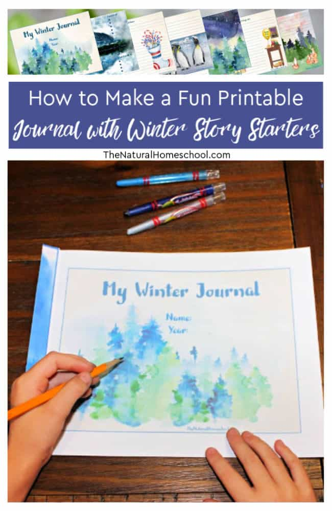 Come find out how to make a beautiful printable journal with super fun and inspirational Winter story starters!