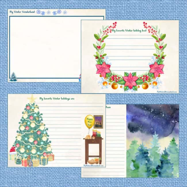 Our high quality Winter themed printable journal is just the thing to have! Come and take a look at how to make a beautiful Winter scene printable journal!