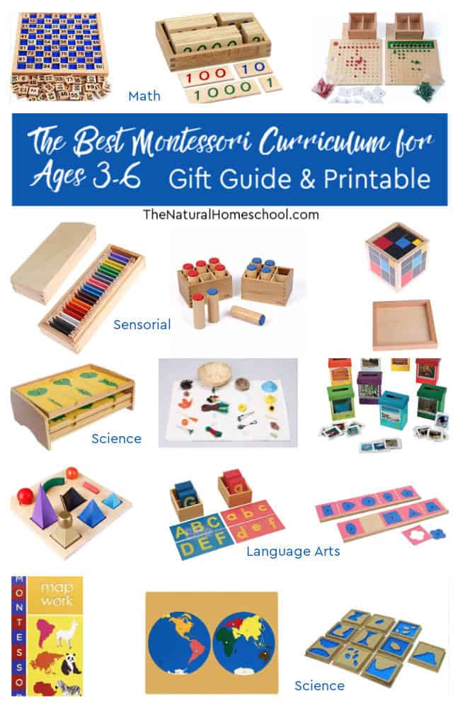 Come and take a look at our Montessori Curriculum for 3-6 Gift Guide with a free printable Montessori curriculum PDF.