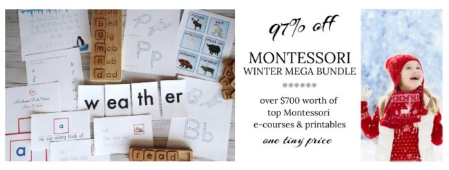 I would like to share a few tips with you when it comes to sifting through our Montessori Winter bundle!