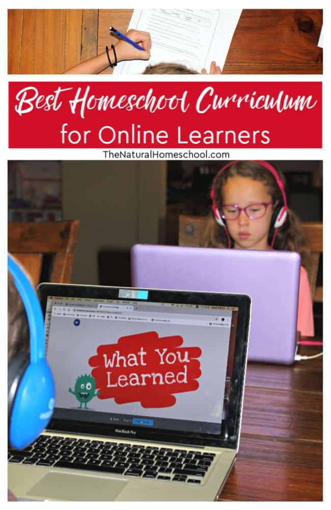 Come and take a look at what we think is the best homeschool curriculum for online learners! I think you will be pleased!