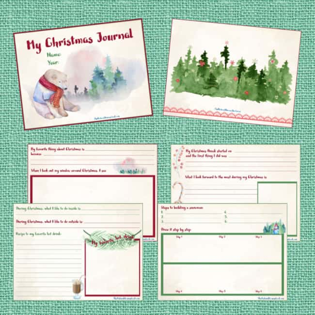 """""""My Printable Christmas Journal"""" is a digital file that you can save on your computer and print a copy every year for each of your kids."""