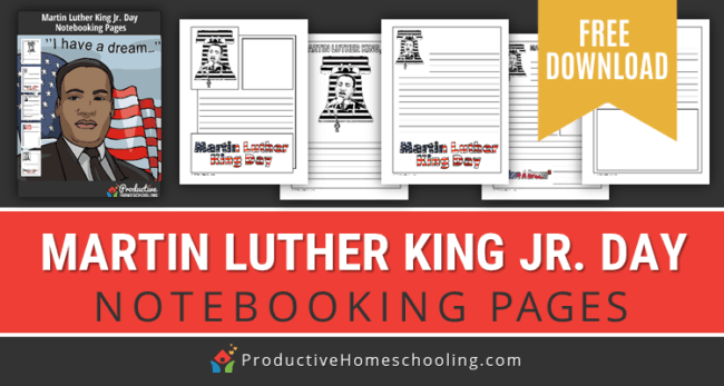 In this post, I will share with you a wonderful set of free printable notebooking pages on Martin Luther King Jr.