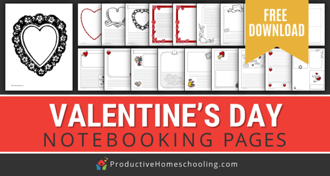 In this post, you can get some awesome free printable notebooking pages for Valentine's Day.