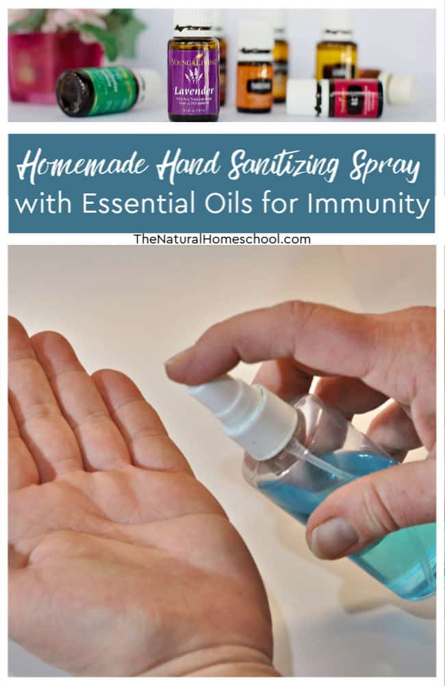 In this post, I'll show you how to make your own homemade hand sanitizing spray that is moisturizing to your skin because we use essential oils for immunity.