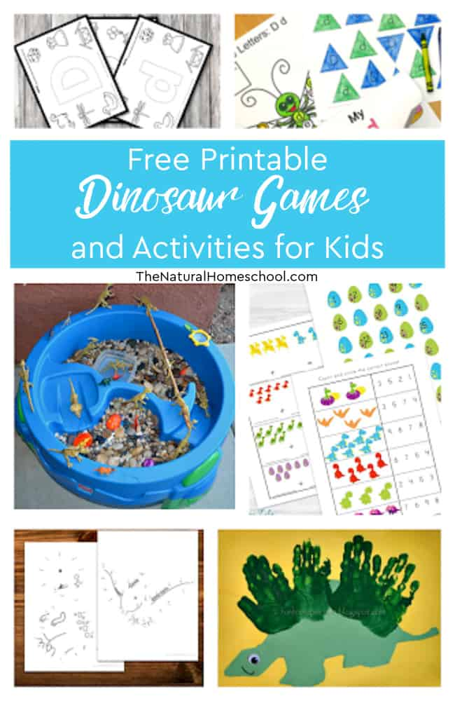 In this post, you will find all kinds of fun dinosaur printable games and activities for kids, so come and take a look.
