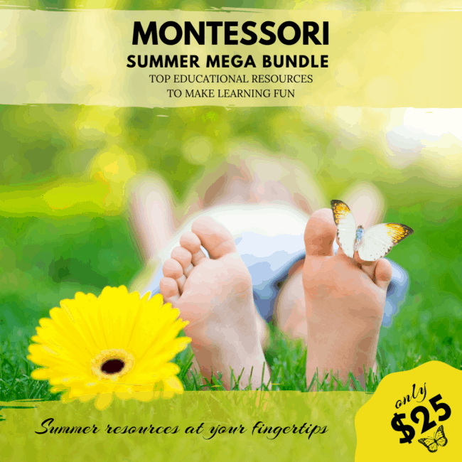 The long awaited Montessori Summer Mega Bundle is finally out. A $500 for only $25! Ends June 14th.