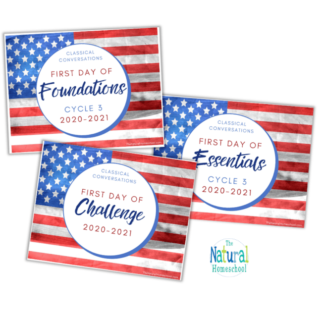 Come and grab your beautiful First Day of Classical Conversations Printable Homeschool Posters for the school year 2020-2021!