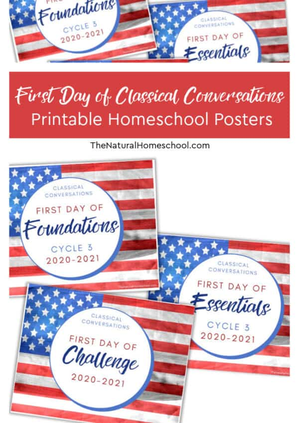 First Day of Classical Conversations Printable Homeschool Posters