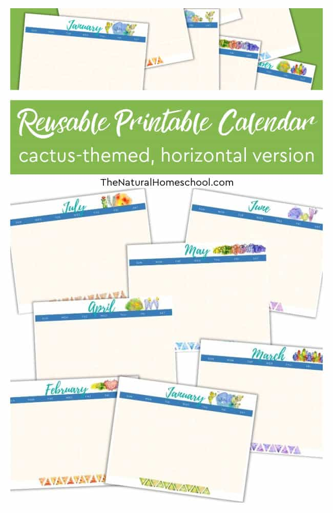 Are you ready for a beautiful homeschool horizontal calendar that will get you started on your homeschool year on the right foot? If so, you definitely have to come and take a look at this great homeschool 12-month calendar.