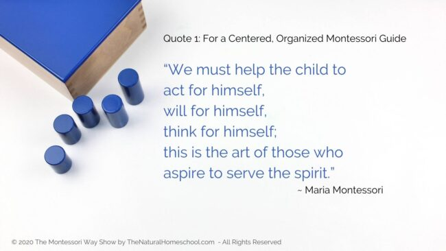 In this post, live show recording and podcast episode, I am going to share with you 3 favorite Montessori quotes for you to ponder on.