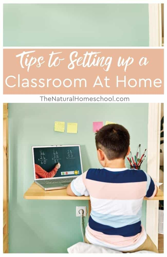 Whether you want more control over what your children learn or want more flexibility, creating a classroom space is important to help with concentration and learning.
