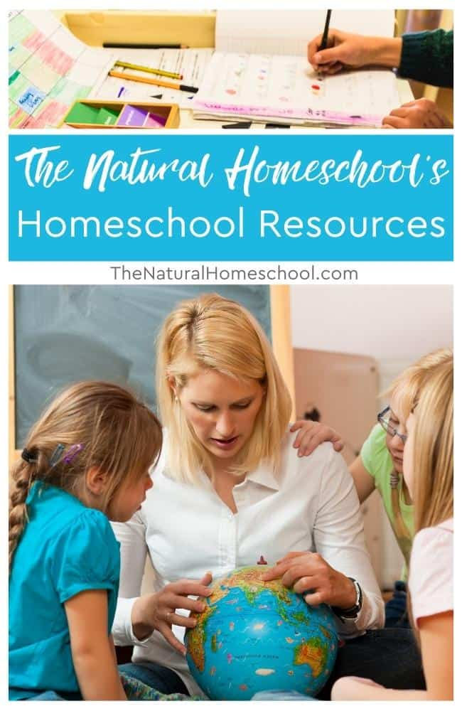 In The Natural Homeschool's homeschool resources page, you will find everything homeschool-related.