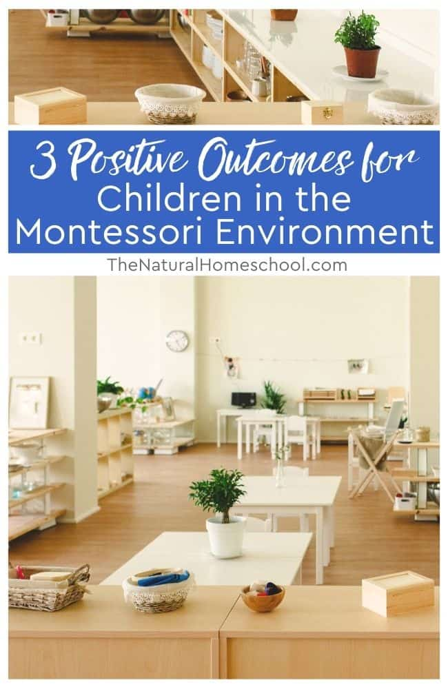Come to learn about 3 positive outcomes for children in the Montessori environment that will either encourage you to try Montessori or to know that you are on the right track!